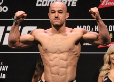 Marlon Moraes (right) Photo via MMAJunkie.com