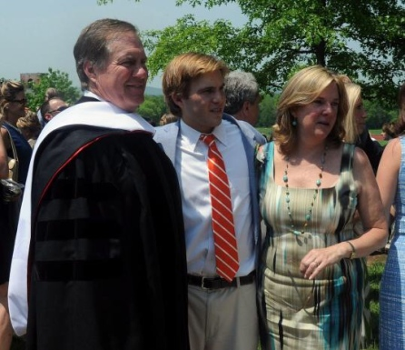 Bill Belichick, his son, Brian and his ex-wife Debby Clarke (photo via Leslloyd F. Alleyne)